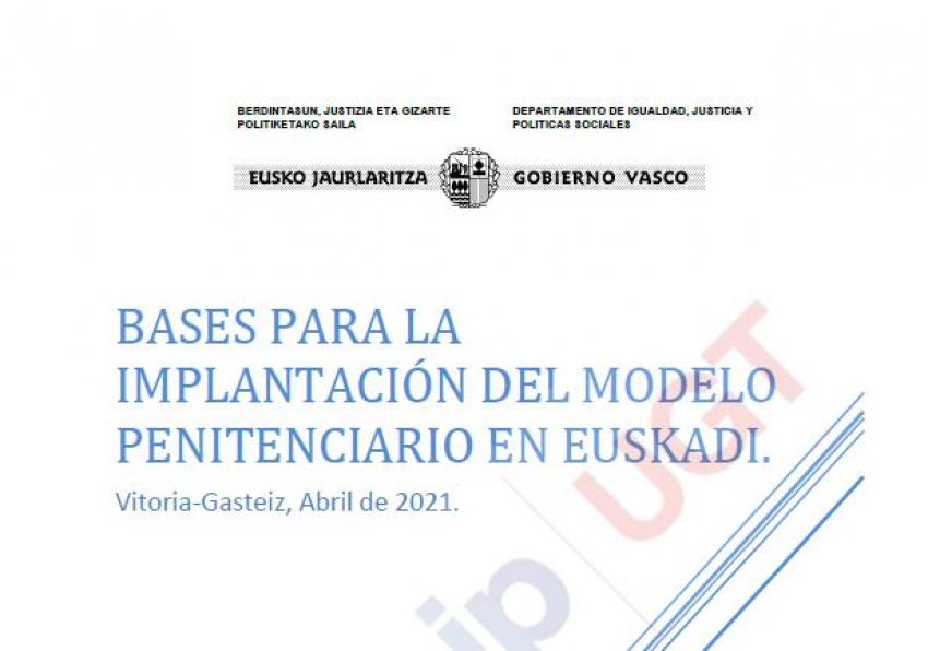 Bases implantación modelo penitenciario en Euskadi